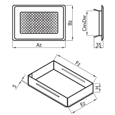 Решітка вентиляційна Р Darco