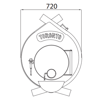 Канадська піч (булер'ян) TORONTO