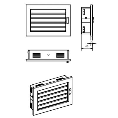 Решітка вентиляційна KRVZ Ventlab