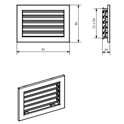 Решітка вентиляційна KRVZS Ventlab